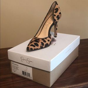 Jessica Simpson Claudette Leopard Hair Heel SZ 6.5